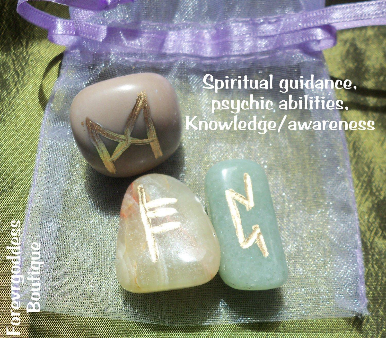 Spiritual guidance, psychic abilities, awareness  Bind Runes
