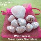 Witches runes  8- Rose quartz /rose quartz Seer Stone