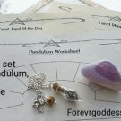 Divination Set  worksheet/pendulums #DWAP 01