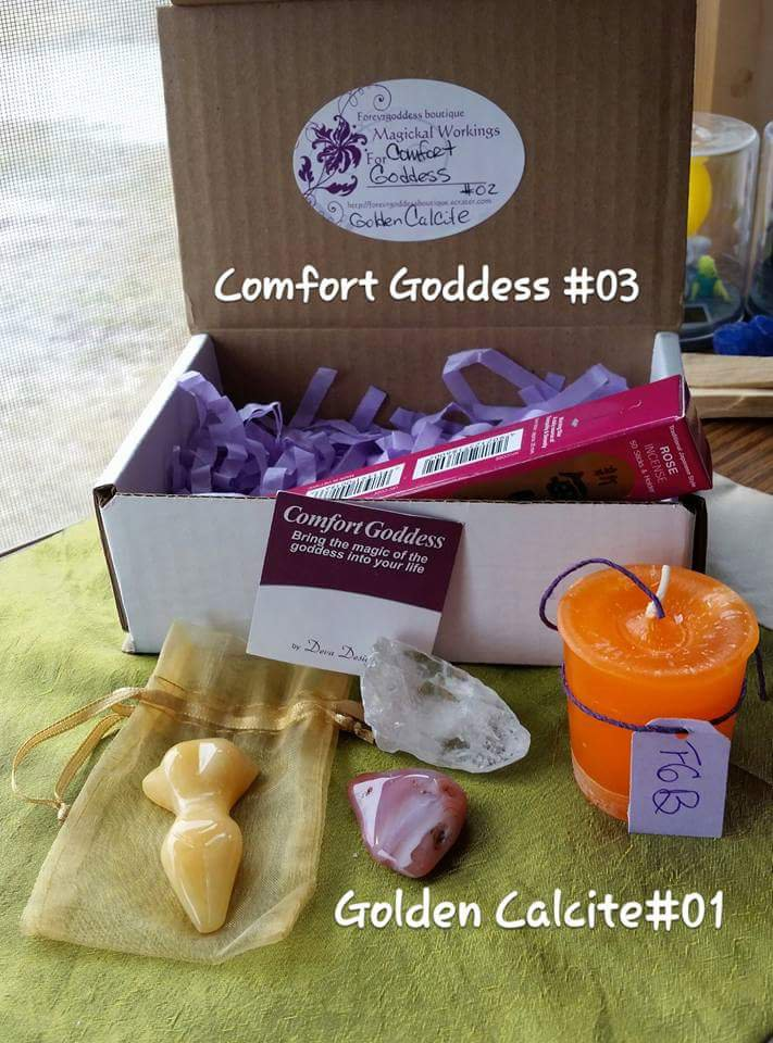 Comfort Goddess Golden Calcite #CGGC03