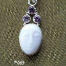 Opal amethyst  face pendant