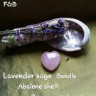 Rose quartz smudging set