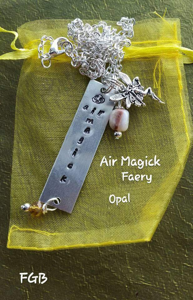 Element Air magick, opal necklace