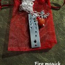 Element Fire magick carnelian necklace