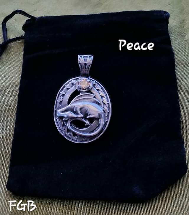Peace dragon pendant