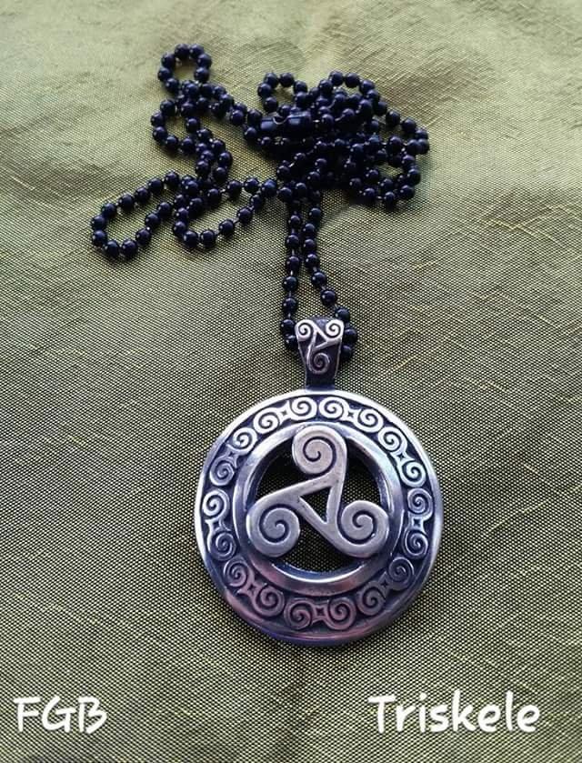 Triskele celtic pendants