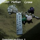 Triple goddess gemstone necklace #02