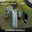 Triple goddess gemstone necklace #01
