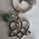 Celtic trinity heart Keychain