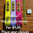 3 morning star incense  boxes -YOUR CHOICE
