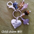 Child charm -Blessed be heart