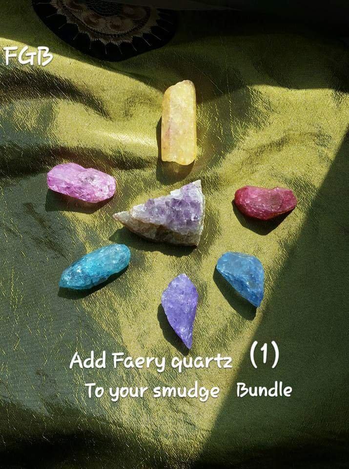 ADD Faery quartz point to smudge bundle