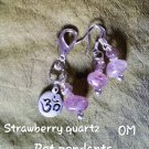 Pet pendants Strawberry quartz OM