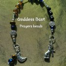 Goddess Bast Prayer beads