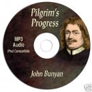 John Bunyan&#39;s Pilgrim&#39;s Progress-MP3 CD Audiobook Disk-Kindle-iPhone Compatible