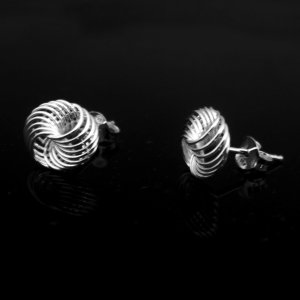 Sterling Silver Spiral Wire Earrings