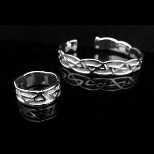 Sterling Silver Cuff and Ring Set