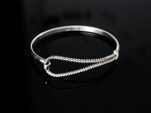 Sterling Silver Rope Bangle