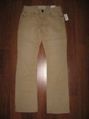 NWT Jr Girls Size 5/6 AEROPOSTALE Tan CORDUROY PANTS School Uniform *Stretch*