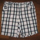 Misses Sz 0 TOMMY HILFIGER Madras Plaid SHORTS Blue *Pre-owned ~ Only Worn Once