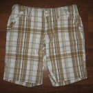 Misses Size 0 TOMMY HILFIGER Madras Plaid SHORTS Tan *Pre-owned ~ Only Worn Once