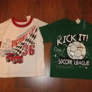 NWT Lot of 2 Boys Size 24 M Months SHIRTS The CHILDRENS PLACE White and Green