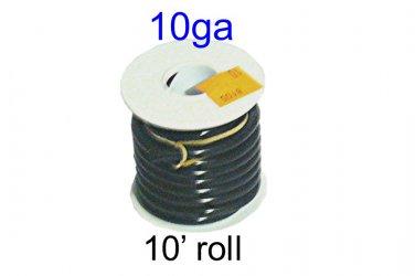 8105, Del City, Primary Wire, Thrifty Spool, Black 10 Ga, 10-ft [L]