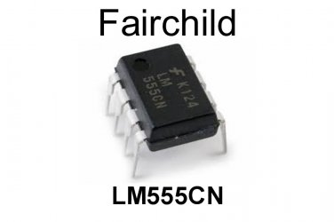 LM555CN, Fairchild, Timer, PDIP-8, 4.5 V to 16 V, [4 PCS] [O]