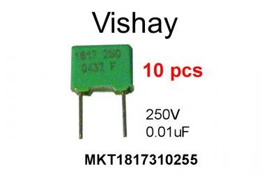 MKT1817310255, Vishay, Polyester Film Capacitor, 0.01uF, 250V, 10%, [10 pcs] [A]