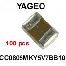 CC0805MKY5V7BB105, Yageo, CAPACITOR, CERAMIC, 16V, 1 uF, 0805 [100 pcs] [H]