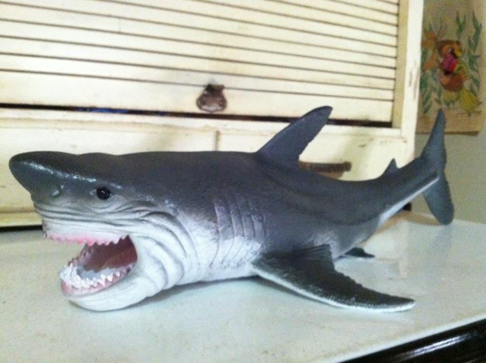 Shark Toys Great White : Shark great white toy replica figure jumbo quot long new