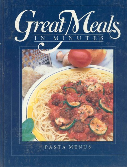 Time Life Cookbook Pasta Menus