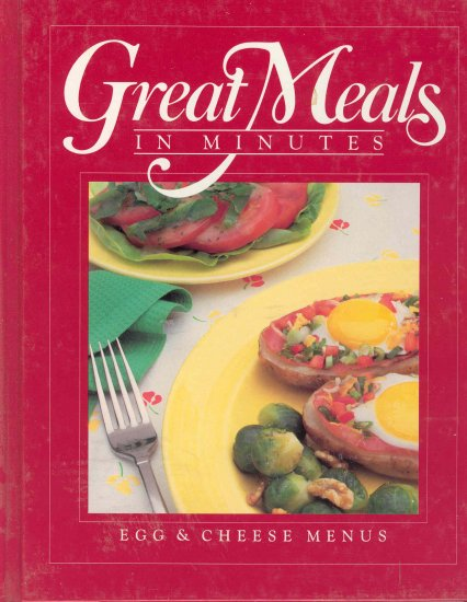 Time Life Cookbook Egg and Cheese Menus