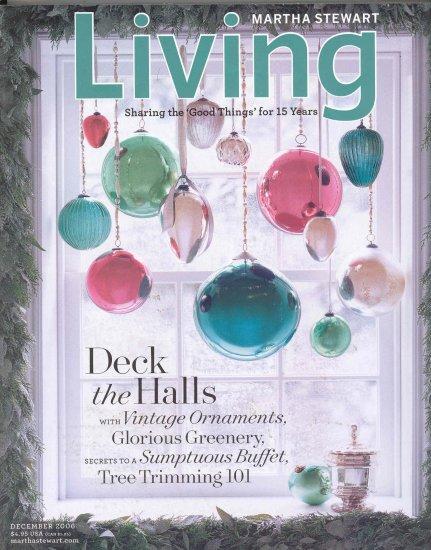 Martha Stewart Living Magazine Back Issue December 2006