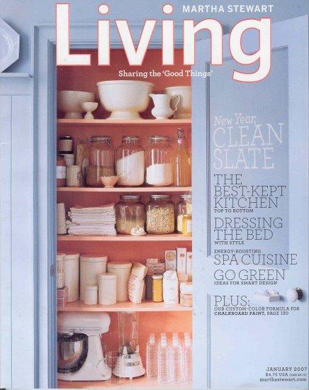 Martha Stewart Living Magazine Back Issue January 2007