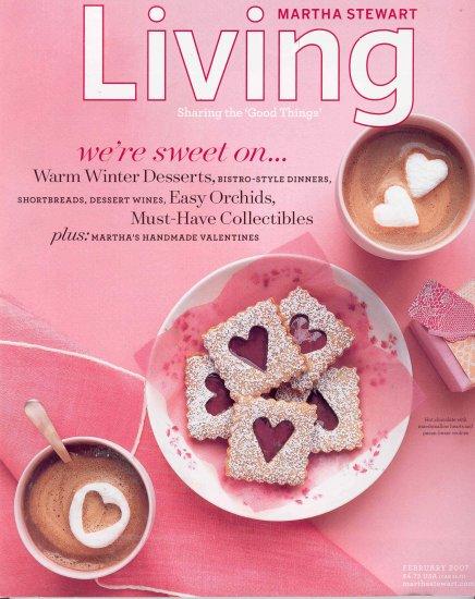 Martha Stewart Living Magazine Back Issue February 2007