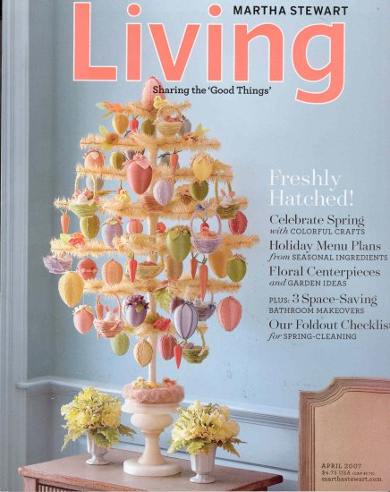 Martha Stewart Living Magazine Back Issue April 2007
