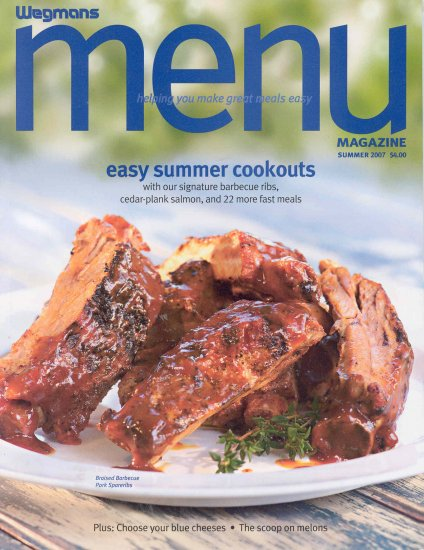 Wegmans Menu Magazine Back Issue Summer 2007 Buy 3 Get 1 Free