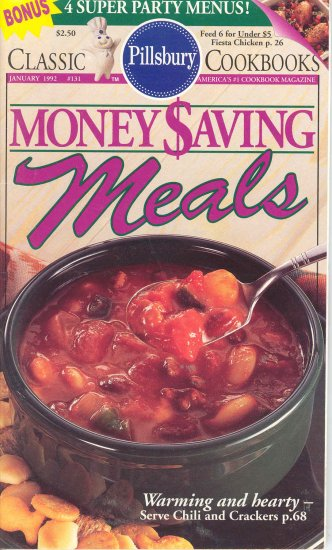 Pillsbury Money Saving Meals Cookbook Buy 3 Get 1 Free