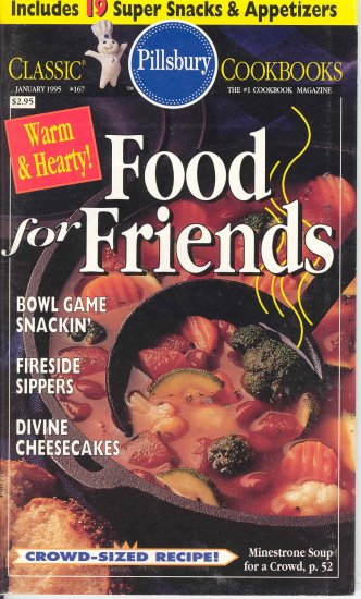 Pillsbury Food for Friends Cookbook Buy 3 Get 1 Free