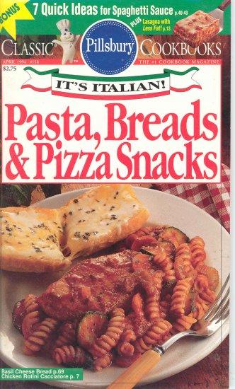 Pillsbury Pasta Bread & Pizza Snacks Cookbook Buy 3 Get 1 Free
