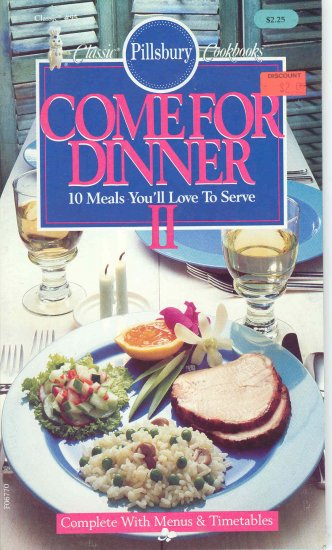 Pillsbury Come for Dinner Cookbook Buy 3 Get 1 Free