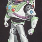 Buzz lightyear toy story black velvet oil painting, is 100% handpainted
