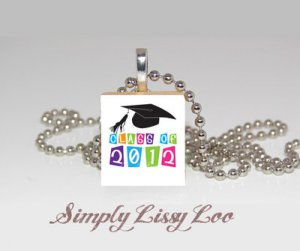 Graduation class of 2012   Scrabble Tile Necklace