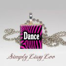 Dance Zebra   Scrabble Tile Necklace