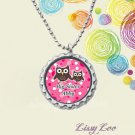 PERSONALIZED BIG SISTER OR LITTLE SISTER OWLS BOTTLE CAP NECKLACE