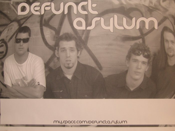 Signed Defunct Asylum Poster