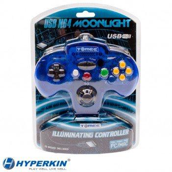 Tomee Nintendo 64 PC & MAC USB Moonlight Illuminating LED GamePad Controller N64
