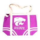 Kansas State Cougars NCAA Canvas Tote Bag New With Tags