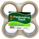 4 Pack Duck Clear Packaging/Shipping Tape 100 Yards Each (Total of 400yds)